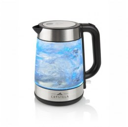 ETA ETA615390000 Standard kettle, Glass, Stainless steel/Black, 2200 W, 360° rotational base, 1.7 L