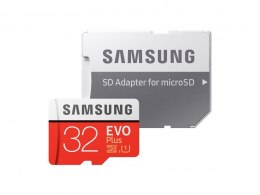 Samsung EVO PLUS UHS-I 32 GB, MicroSDHC, Flash memory class 10, SD adapter