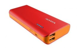 ADATA Power bank APT100-10000M-5V-CRDOR 10000 mAh, Red/Orange
