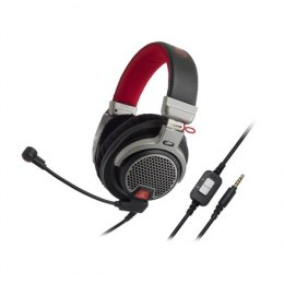 Audio Technica ATH-PDG1 Premium Gaming Headset, 3.5mm (1/8 inch), Over-ear, Microphone, Noice canceling, Black/Red