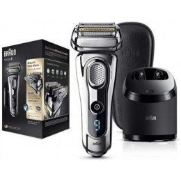 Braun Shaver 9297cc Charging time 1 h, Wet use, Li-Ion, Silver, Wet & Dry