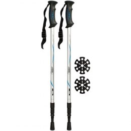 Hiking cane adjustable Abbey 21SV anti shock Silver/blue