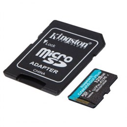 Kingston microSD Canvas Go! Plus 128 GB, MicroSD, Flash memory class 10, SD Adapter