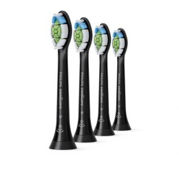 Philips Toothbrush replacement HX6064/11 Heads, For adults, Number of brush heads included 4, Black