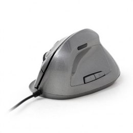 Gembird MUS-ERGO-02 Optical Mouse, Silvergrey, USB