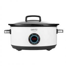 Camry Slow cooker CR 6410 600 W, Ceramic pot, 6.5 L, Number of programs 3, White