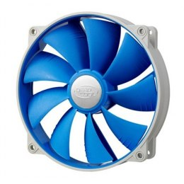 Deepcool 140mm BLUE Ultra silent fan with PWM and De-vibration TPE cover, with 120 mm mounting holes for case, coolers and psu d