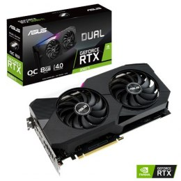 Asus DUAL-RTX3060TI-O8G NVIDIA, 8 GB, GeForce RTX 3060 TI, GDDR6, PCI Express 4.0, Cooling type 2x Fans, Processor frequency 174