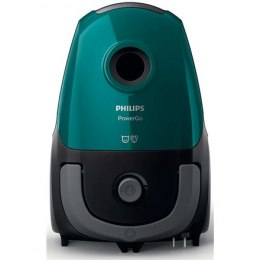 Philips PowerGo vacuum cleaner FC8246/09 Warranty 24 month(s), Bagged, Opal Green, 750 W, 3 L, AAA, A, D, A, 77 dB,