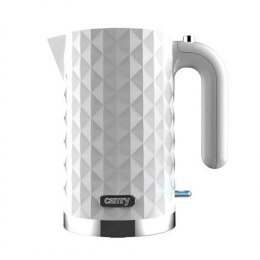 Camry CR 1269 Standard kettle, Plastic, White, 2200 W, 360° rotational base, 1.7 L