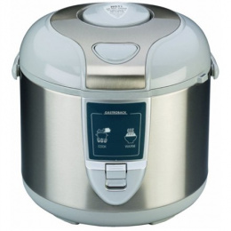 Gastroback Rice cooker 42507 Inox/ White, 450 W, Capacity 3 L, Number of baskets 2