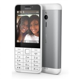 "Nokia 230 Silver, 2.8 "", TFT, 240 x 320 pixels, 16 MB, Dual SIM, Mini-SIM, Bluetooth, 3.0, USB version microUSB 1.1, Built-in ca"