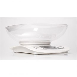 Adler AD 3137 Kitchen scales, Capacity 5 kg , Graduation 1g, Big LCD Display, Auto-zero/Auto-off, Large bowl, White Adler Adler