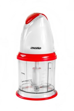 Mesko MS 4062 Chopper with plastic bowl, 0.5L capacity, Pulse operation, 300W, Stainless steel blades, White/Red Mesko MS 4062