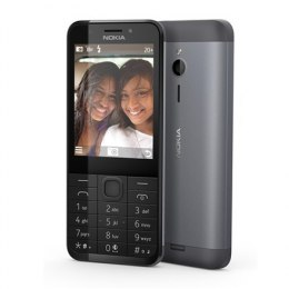 "Nokia 230 Dark Silver, 2.8 "", TFT, 240 x 320 pixels, 16 MB, Dual SIM, Mini-SIM, Bluetooth, 3.0, USB version microUSB 1.1, Built-"
