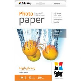 ColorWay High Glossy Photo Paper, 50 sheets, 10x15, 200 g/m²