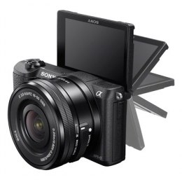 "Sony ILCE5100LB.CEC Body + 16-50mm lens Mirrorless Camera Kit, 24.3 MP, ISO 25600, Display diagonal 7.62 "", Video recording, Wi-"