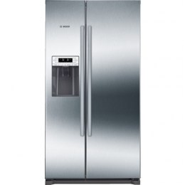Bosch Refrigerator KAD90VI20 Free standing, Side by Side, Height 177 cm, A+, No Frost system, Fridge net capacity 370 L, Freezer