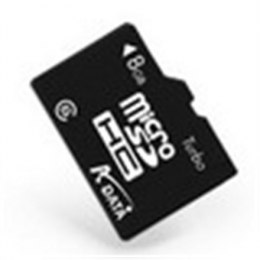 ADATA 8 GB, MicroSDHC, Flash memory class 4, SD adapter
