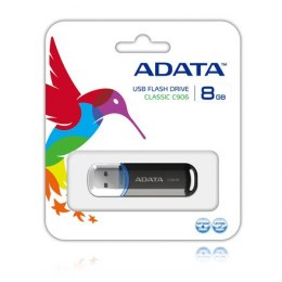 ADATA C906 8 GB, USB 2.0, Black