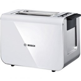 Bosch Toaster TAT8611 White/ silver, Stainless steel, 860 W, Number of slots 2,