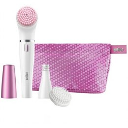 Braun Face Epilator and facial cleansing brush SE832S Number of intensity levels 1, White/ pink