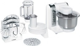 Bosch Food processor MUM48CR1 Stainless steel, White, 600 W, Number of speeds 4, Blender,