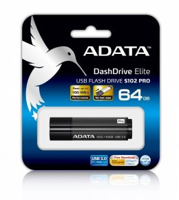 ADATA S102P 64 GB, USB 3.0, Grey