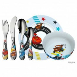 WMF Disney Car's Child's cutlery set, Material Cromargan®: stainless steel 18/10 polished, 6 pc(s), Dishwasher proof