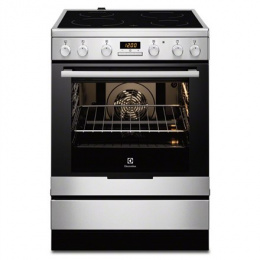 Electrolux Cooker EKC6430AOX Integrated timer, Hob type Vitroceramic, Oven type Electric, Stainless steel, Width 60 cm, Electron