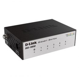 D-Link Switch DGS-1005D Unmanaged, Desktop, 1 Gbps (RJ-45) ports quantity 5, Power supply type Single