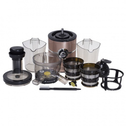 Adler Slow Juicer AD 4119 Type Electrical, Black/ yellowish rose, 200 W, Extra large fruit input, Number of speeds 1