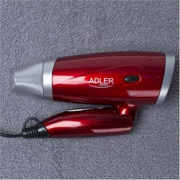Adler Hair Dryer AD 2220 Foldable handle, 1400 W, Red