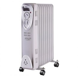 Adler AD 7808 Oil Filled Radiator, Number of power levels 2, 2000 W, Number of fins 9, White