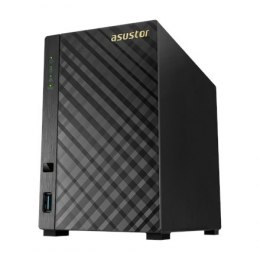 Asus Asustor Tower NAS AS3102T v2 up to 2 HDD, Intel Celeron Dual-Core, Processor frequency 1.6 GHz, 2 GB, DDR3L, Black