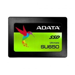 "ADATA Ultimate SU650 ASU650SS-240GT-R 240 GB, SSD form factor 2.5"", SSD interface SATA, Write speed 450 MB/s, Read speed 520 MB/"
