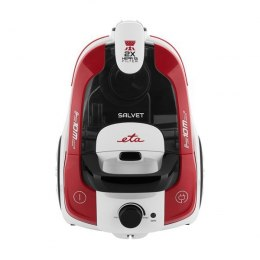 ETA Vacuum Cleaner SALVET Bagless, Red/ black/ white, 700 W, 2.2 L, A, A, C, B, 70 dB, HEPA filtration system, 230 V
