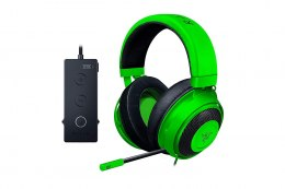 Razer Wired Gaming Headset with USB Audio Controller, Analog 3.5 mm, Kraken Tournament Edition, USB, Green, Built-in microphone
