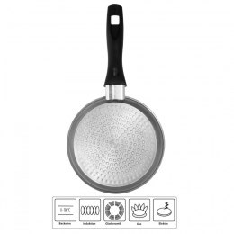 Stoneline Pan 6754 Frying, Diameter 18 cm, Suitable for induction hob, Fixed handle, Anthracite
