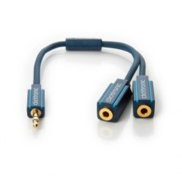 Clicktronic 3,5 mm. male to, x2 3,5 mm. female. MP3 DuoSound adapter, 70491