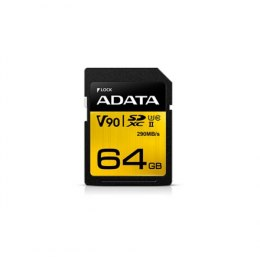 ADATA Premier ONE UHS-II U3 64 GB, SDXC, Flash memory class 10