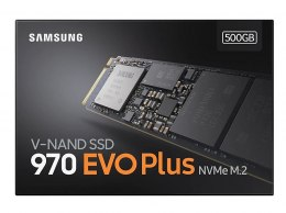 Samsung 970 Evo Plus 500 GB, SSD interface M.2 NVME, Write speed 3200 MB/s, Read speed 3500 MB/s