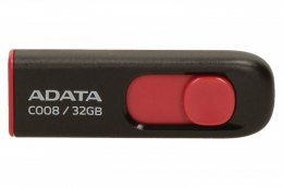 ADATA C008 32 GB, USB 2.0, Black/Red