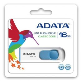 ADATA C008 16 GB, USB 2.0, White/Blue