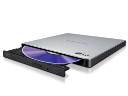 H.L Data Ultra Slim Portable DVD-Writer Silver