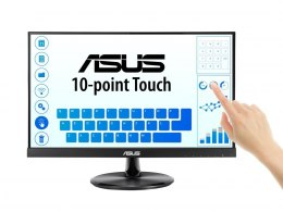 "Asus Touch LCD VT229H 21.5 "", Touchscreen, IPS, FHD, 1920 x 1080 pixels, 5 ms, 250 cd/m², Black, 10-point Touch, 178° Wide Viewi"