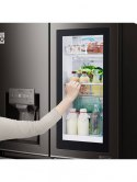 LG Refrigerator GMX936SBHV Free standing, Side by Side, Height 180 cm, A+, No Frost system, Fridge net capacity 371 L, Freezer n