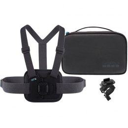 GoPro Sports Kit AKTAC-001 Quantity Chesty (Performance Chest Mount), Handlebar / Seatpost / Pole Mount, Large and small Rubber