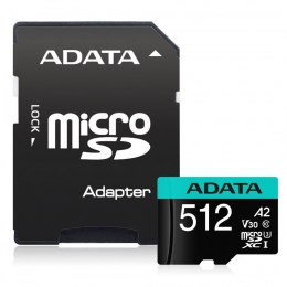ADATA Premier Pro UHS-I U3 512 GB, micro SDXC, Flash memory class 10, with Adapter