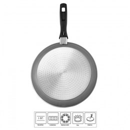Stoneline Pan 6587 Frying, Diameter 28 cm, Suitable for induction hob, Fixed handle, Anthracite